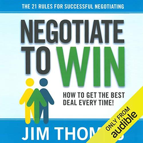 Negotiate to Win audiobook cover art