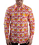 Comycom 70er Jahre Party Hemd Waves Pink XL