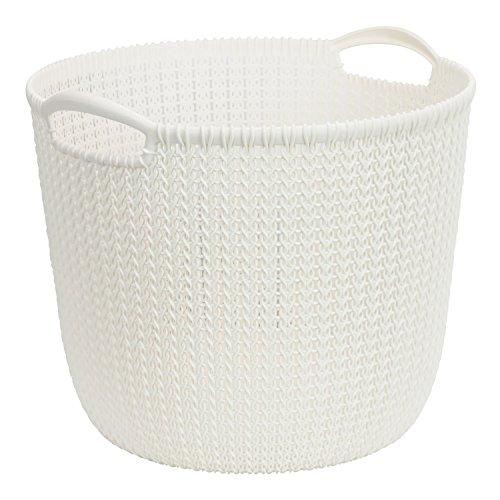 Curver Cesta Knit Redonda L 30L, Blanco Oasis, 37.5x36x31.4 cm, 226388