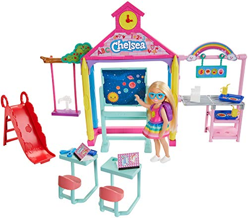​Barbie Club Chelsea Doll and School Playset, 6-Inch Blonde, with Accessories, Gift for 3 to 7 Year Olds