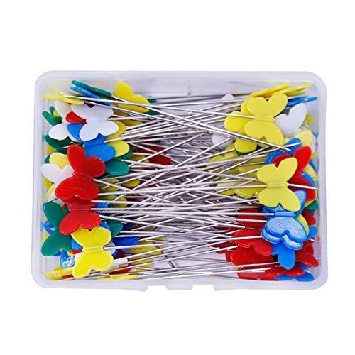 SUPVOX 200 piezas alfileres cabeza mariposa coser