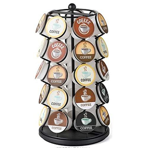 Z/A Kaffeekapselhalter-Hält 35 K-Cup Mit Original Eleganter Und Moderner Verchromte Oberfläche 360-Grad-Drehung