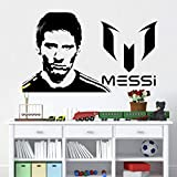 Lionel Messi Logo Football Sports Barcelona FC Super Star Soccer Player Vinilo Etiqueta de la pared Calcomanía dormitorio GYM Club Home Deocration Art Mural Poster