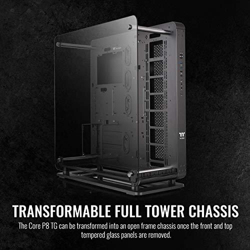 Thermaltake Core P8 Tempered Glass E-ATX Full-Tower Chassis Computer Case CA-1Q2-00M1WN-00, Black