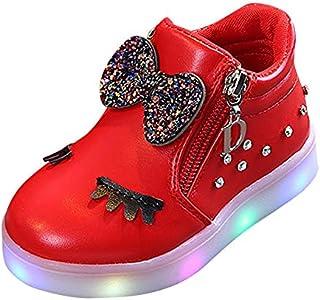 Zapatos Bebe niña LANSKIRT Zapatillas de Deporte Arco Zapatos de Flash LED pestaña Calzado de Zapato Cómodo Patucos Suave Sandalias Botas Cortas para Bebe niño niña Primeros Pasos Verano