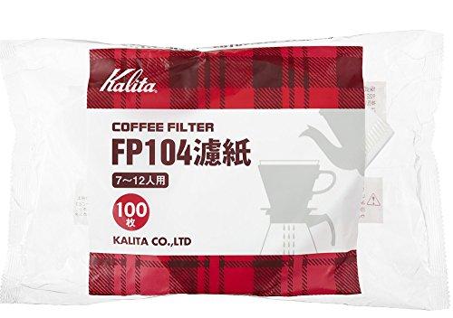 Kalita コーヒーフィルター FP104濾紙 7~12人用 100枚入り ホワイト #17029