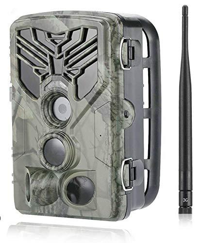 24MP 3G Jagdkamera Wildkamera Unsichtbar 42 Black LEDs 0,3 Sek Trigger 120° Fotofalle Überwachungskamera Jagd Wild Kamera Hunting Trail Camera HC-810G SUNTEKCAM