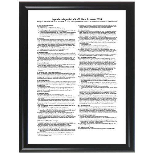 kaufdeinschild A4 weißer Rahmen Aushang Jugendschutzgesetz Gastronomieaushang