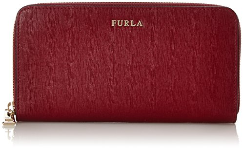 FURLA Babylon Xl Zip Around - Portafogli Donna, Rosso (Ciliegia D), 2x20x10 cm (B x H T)