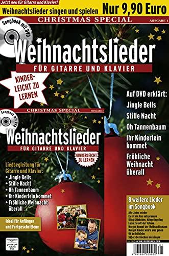 Best Of Songs 2: Weihnachtslieder für Gitarre und Klavier: Ideal für Anfänger und Fortgeschrittene. Liedbegleitung für Gitarre und Klavier: Jingle ... kommet, Fröhliche Weihnacht überall