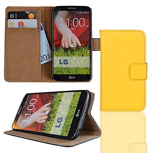 eximmobile Cartera Funda Flip Case Funda para LG L modelos amarillo LG Optimus L9 II