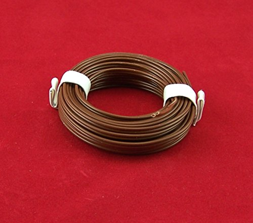 5 Meter (EUR 0,46EUR/M). Kabel 2-adrig braun, bis 12V. Für Puppenstube, Krippe