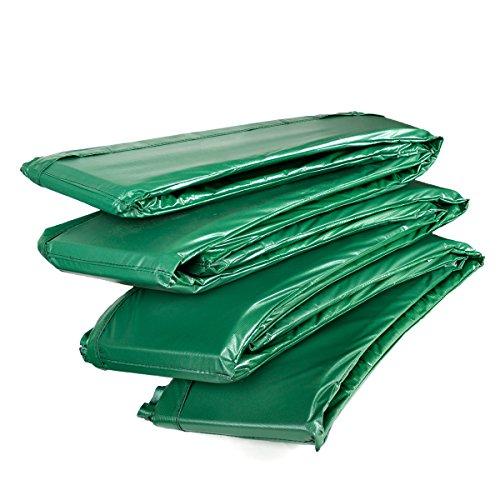 Ampel 24 Trampolin Randabdeckung Deluxe passend für Ø 427 bis 430 cm bei Außennetz, Dicker Schutzrand reißfest und beständig, Federabdeckung grün