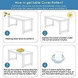 PVC Tischdecke, Tischfolie Transparent, 180*90cm(L*B), Tischschutzfolie 2mm dick , Tischschutz Transparent, Durchsichtige Tischdecke, Einfach zu säubern, Kratzfest abwischbar, ölbeständig - 8