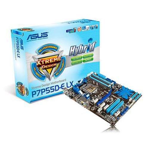 ASUS P7P55D-E LX Mainboard Sockel 1156 PCI-E P55 USB3.0 SATA 6Gb/s DDR3 Speicher ATX