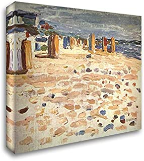 Beach Baskets in Holland 24x20 Gallery Wrapped Stretched Canvas Art by Wassily Kandinsky