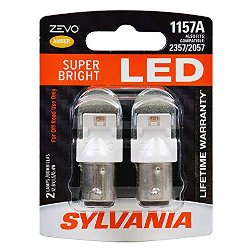 SYLVANIA ZEVO 1157 Amber LED Bulb, (Contains 2 Bulbs) (1157ALED.BP2)