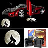 3D Wireless Magnetic Car Door Step LED Welcome Logo Shadow Ghost Light Laser...