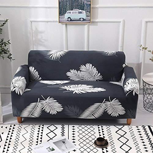 Funda de sofá gris Fundas para muebles elásticas Fundas de sofá elásticas para sala de estar Funda de asiento con funda deslizante funda de asiento de spandex sofá 1-4 plazas, color 18,4-plazas (235-