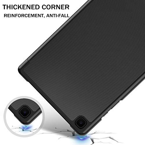 IVSO Hülle Kompatibel mit Samsung Galaxy Tab A7 10.4 2020, Schlank Slim Hülle Schutzhülle Hochwertiges PU mit Standfunktion, Samsung Galaxy Tab A7 T505/T500/T507 10.4 Zoll 2020, Schwarz