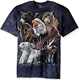 The Mountain unisex adult Wild Alaskan Collage T Shirt, Blue, XX-Large US