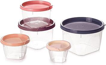 Conjunto de Potes Redondos com 5 Unidades Plasútil Multicor