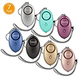 Personal Alarm for Women 140DB Emergency Self-Defense Security Alarm Keychain with LED Light for Women Kids and Elders-7 Pack