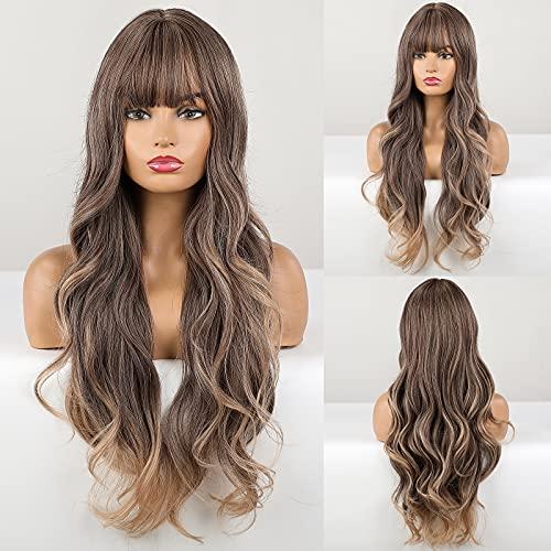 HAIRCUBE Parrucca riccia lunga, parrucche sintetiche per donne Parrucche resistenti al calore dal grigio naturale al biondo Abbigliamento quotidiano cosplay Cosplay