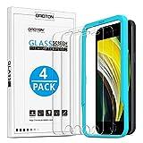 OMOTON Protector Pantalla iPhone SE 2020 Cristal Templado iPhone 8/ iPhone 7 / iPhone SE 2020, 4,7 Pulgadas, Sin Burbujas, 4 Piezas
