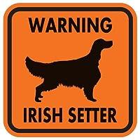 WARNING IRISH SETTER マグネットサイン:アイリッシュセッター(オレンジ)Lサイズ