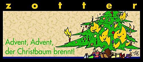 Zotter Advent, der Christbaum brennt Gebrannte Mandeln 70g - Bio