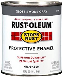 Rust-Oleum 7786502 Protective Enamel Paint Stops Rust, 32-Ounce, Gloss Smoke Gray