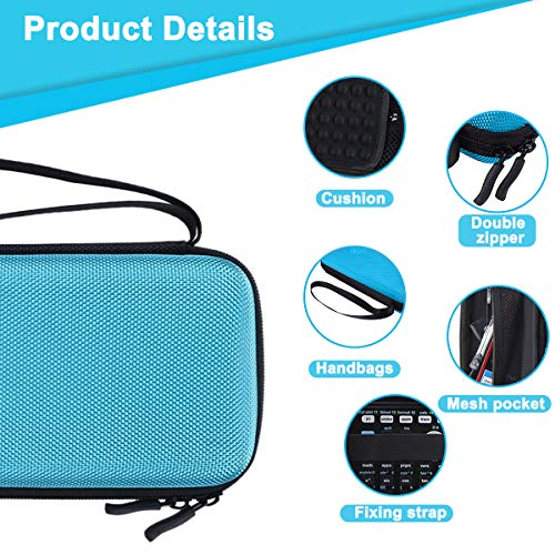 XBERSTAR Hard EVA Shockproof Carry Case Bag Pouch for Texas Instruments TI-84 Plus CE/Color TI-83 Plus,TI-89 Titanium, HP 50G Graphing, Scientific Financial Calculators (Blue) … Photo #2