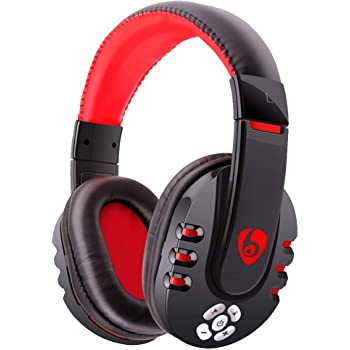Amazon Com Egmy Bluetooth Headset Ovleng V8 Bluetooth Earphones Gaming Headset Headphones With Microphone For Pc Phone Pubg Red Garden Outdoor