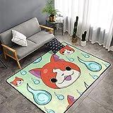 Yokai Watch Game Nathan Adams Jibanyan Alfombra antideslizante resistente a las manchas, acogedora alfombra periférica para decoración del hogar, interior clásico para 60 x 99 cm