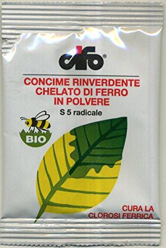Cifo S5 Concime Rinverdente Chelato di ferro in polvere confezione da 10 grammi