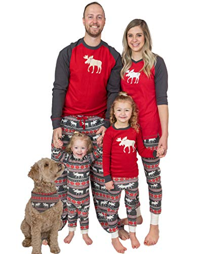 Lazy One Kinder Pyjama Set Moose Fair Isle 3