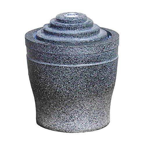Hogar y Cocina Fuentes de Interior Interior y Exterior de la Fuente de Escritorio Feng Shui Resina Fuente de Mesa de jardín Fuente de Agua de la decoración del hogar Fuente de Mesa con Bomba