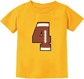 Gift for 4 Year Old 4th Birthday Football Toddler Kids T-Shirt