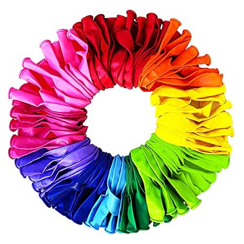 Palloncini Compleanno-Biodegradabile 100 Palloncini Colorati-palloncini compleanno bambina...