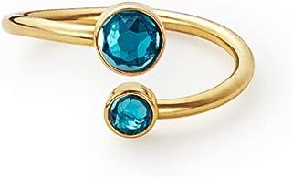 Alex and Ani Birthstone Ring Wrap - December - Gold-Tone - A16RW17G