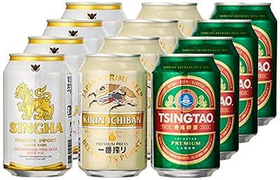 SINGHA, TSINGTAO und KIRIN Bierpaket, asiatische Bierspezialitäten (12 x 0,33 l)