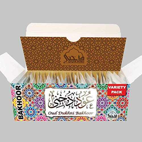 Dukhni Oud Bakhoor - Variety Sample Set. 30 Pieces of Maamoul Bakhoor | for Home use with Exotic bakhoor Burner, Electric OR Charcoal Burner | Perfect for Namaaz, Meditation, Chanting, Peace