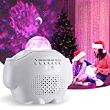 OOWOLF Night Light for Kids, 5.9 inch Multi-Colored LED Star Projector Lamp, Voice Control USB Rechargeable Galaxy Projector Lamp for Bedroom Nursery Decor, Christmas, Gift