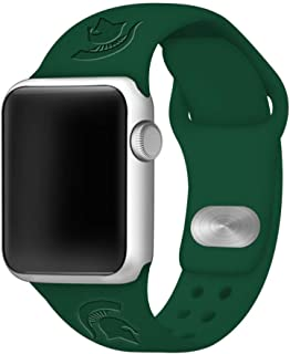 Affinity Bands Michigan State Spartans Debossed Silicone Band Compatible with The Apple Watch - 38mm/40mm