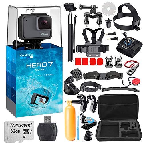 GoPro HERO7 Silver with Striker 38 Piece Action Camera Accessory Bundle