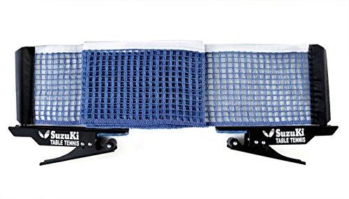 Suzuki nylon Table Tennis Table Net and Pole, Multicolour