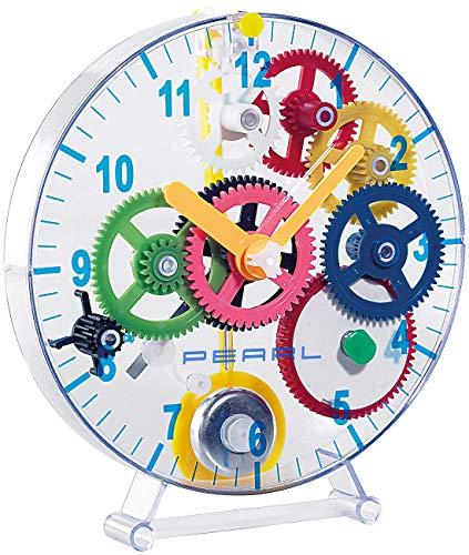 Pearl NC-7347 Kit de Construction d'horloges pour Enfant (kit de Construction de Montures soi-même), Transparent