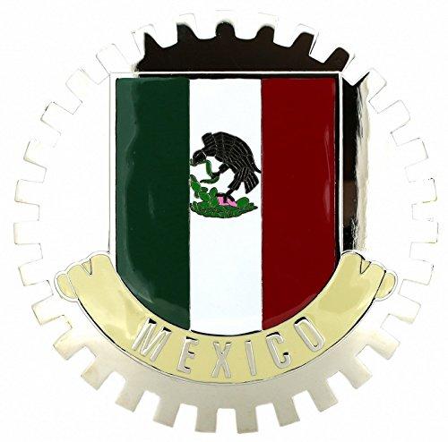 FLAG OF MEXICO-CAR GRILLE EMBLEM BADGES