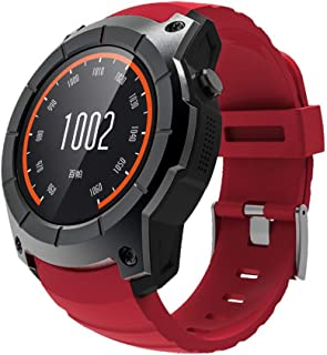 GLO BUY Bluetooth GPS Multi-Function Sports Watch MTK2503 Heart Rate Monitor Fitness Tracker Smart Watch Support Sim Card,Red
